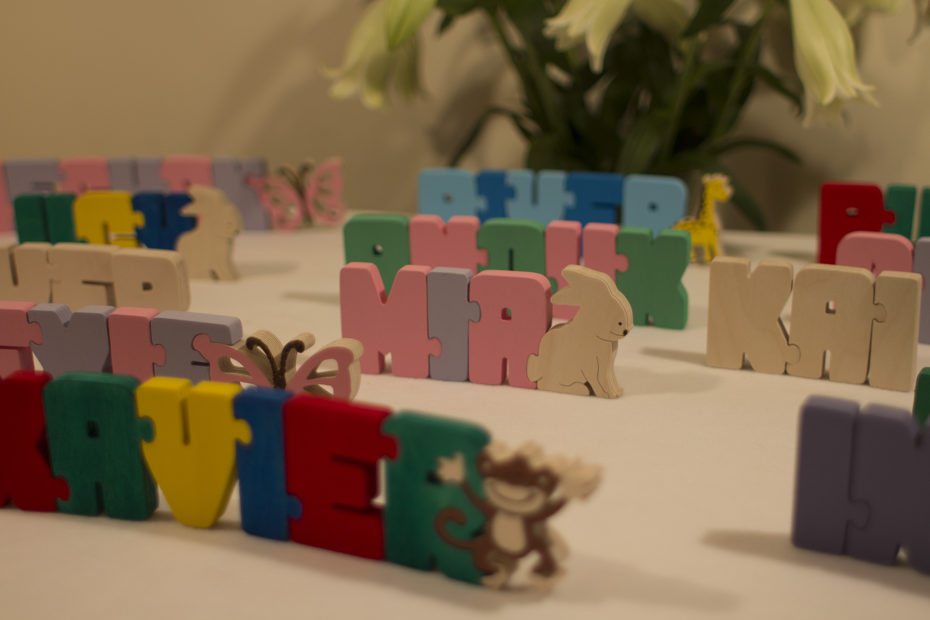 handmade Jigsaw names puzzle